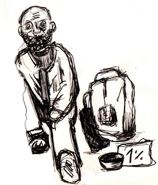 The Other 1% - drawing by Rike