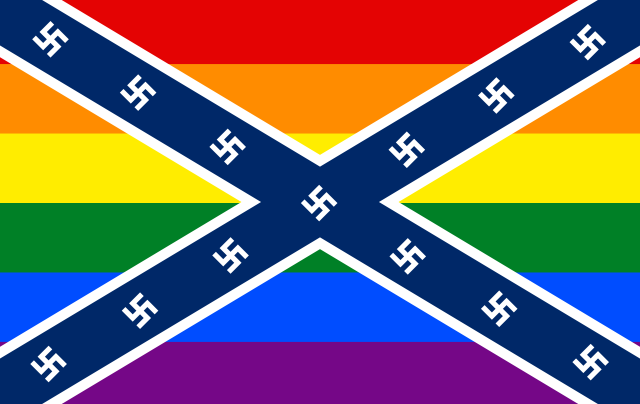 Gay Confederate Nazi flag
