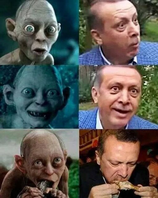 Erdoğan compared to Sméagol