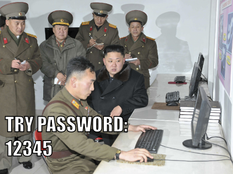 Try password: 12345