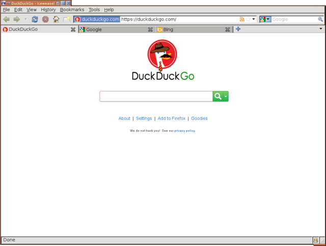 DuckDuckGo on father's day