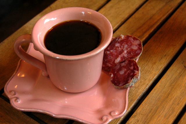 coffee and saucisson