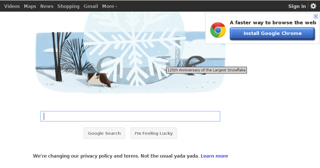 Google - euh, Snowflake day..