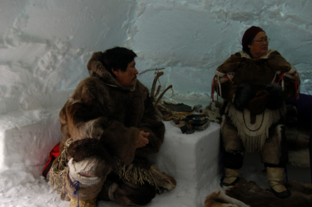 inside an inuit igloo