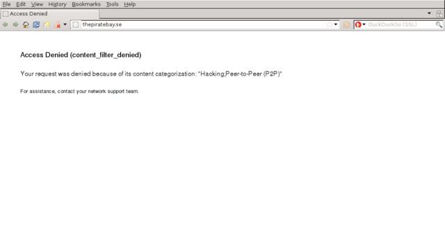 Piratebay blocked - Hacking; Peer-to-Peer(P2P)