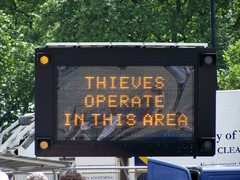 Thieves operate in this area